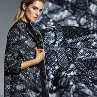 New technology wool jacquard fabric woven wool polymerization process wool yarn blended fabric winter coat skirts high fashion