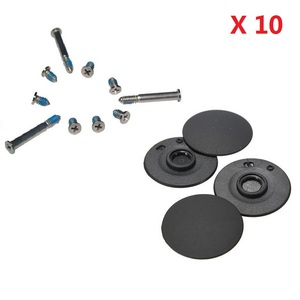 "Image 1 - 10sets/lot Bottom Case Screws Set & Bottom Case Rubber Feet 4pcs/set For Apple Macbook Pro Unibody A1278 A1286 A1297 13"" 15"" 17"""