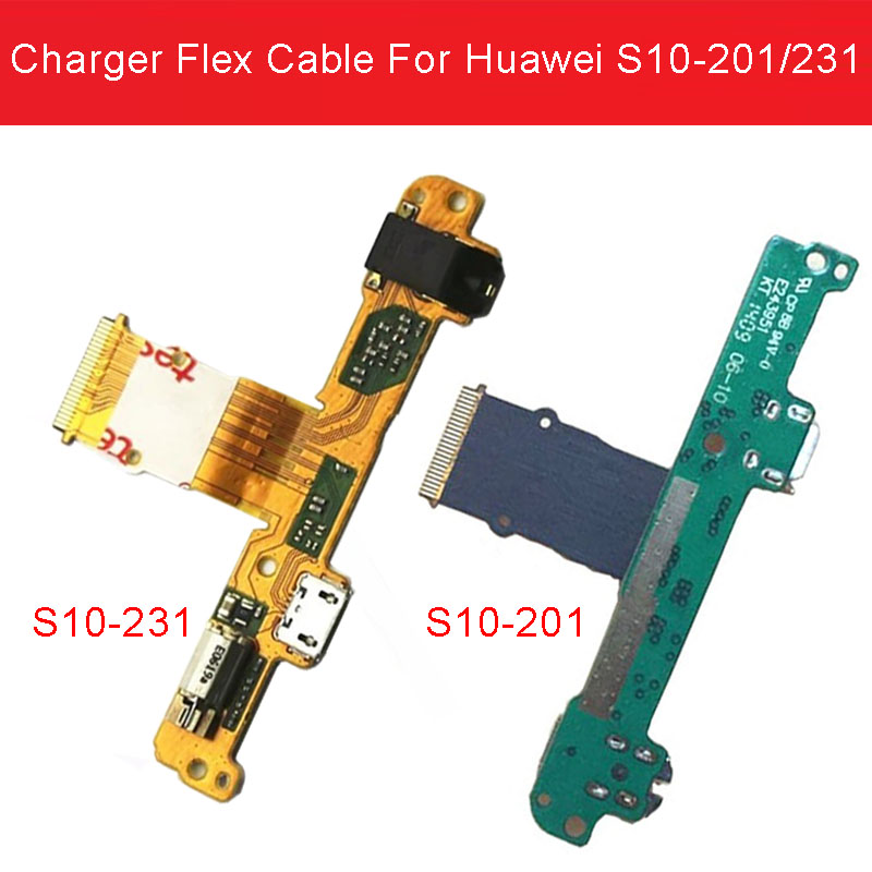 Genuine Sync Date Charging Port Flex Cable For Huawei Mediapad 10 Link S10-201U/W 231U/W USB Charger Connector Dock Replacement