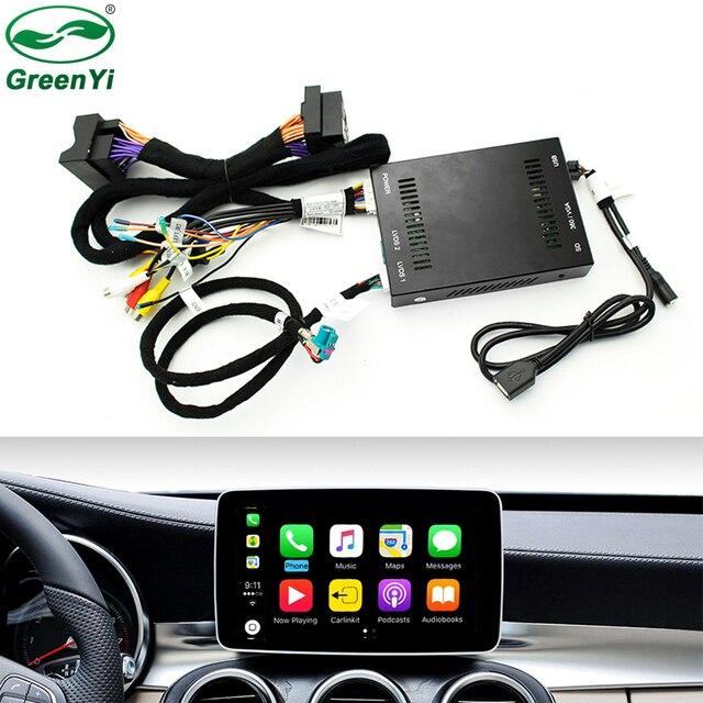2018 neue IOS Auto Apple Airplay Android Auto CarPlay Box Für Benz A B C CLA GLA GLC GLE Klasse 15-17 NTG 5,0 OS System