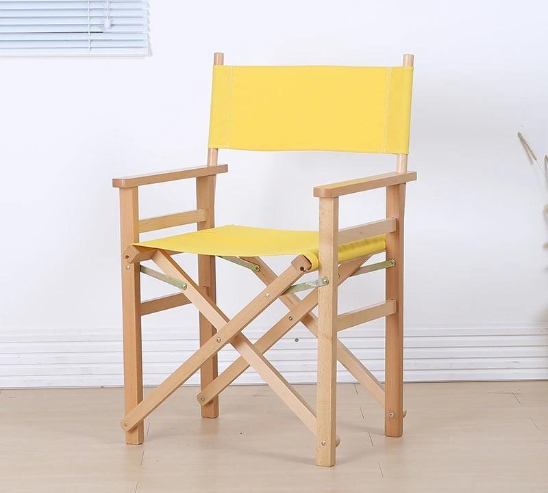 fauteuil pliant en bois moderne avec toile meubles d exterieur pour le jardin chaise d artiste pour maquillage
