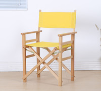 Modern Director Folding Armchair with Canvas Outdoor Garden Furniture Director Chair Foldable For Makeup Artist Chair Wooden