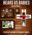 Jogos de família 1 pc Bears Vs Bebês Em Estoque Nova Explosão Gatinhos Aveia Jogo Presente de Natal Jogos De Tabuleiro Cartão UPS
