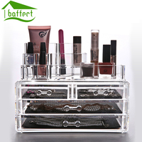 Large Multi Table With Drawer Storage Box Cosmetic Box Transparent Acrylic Cosmetic Storage Box Eal Sb42