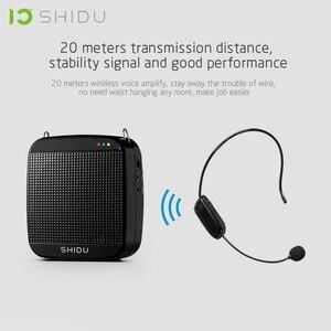 Image 4 - SHIDU S613 אלחוטי נייד קול מגבר UHF מיני אודיו רמקול USB Lautsprecher למורים Tourrist מדריך מורה ליוגה