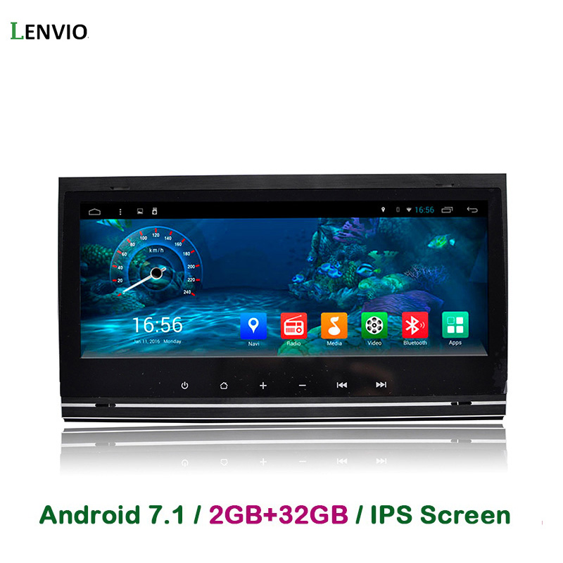 Lenvio RAM gb + 32 2 gb 8.8 IPS Quad Core 2 Din Android 7.1 GPS DO CARRO DVD Player para Audi A4 S4 RS4 2002-2005 2006 2007 2008 Rádio DAB