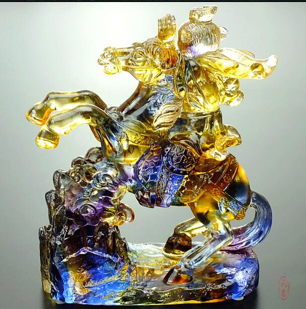 Immediately Monkey Ancient Glass Crystal Crafts Horse Ornaments Home Furnishings Living Room Ideas China