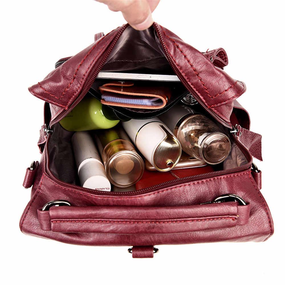 Sac Dos Femme многофункциональные женские рюкзаки женский рюкзак винтажные школьные рюкзаки для девочек мягкие кожаные сумки на плечо Mochilas