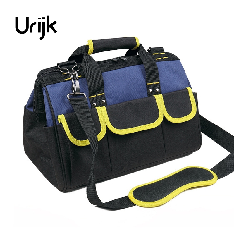Urijk 4Sizes Oxford Hydraulic Tool Bag Wearable Woodworking Satchel Hand Tools Knife Screwdriver Pliers Scissors Hammer Wrench jumpro mother s day gift 77pc ladies tools pink tool set home tool hammers pliers knife screwdrivers wrenches tapes hand tool