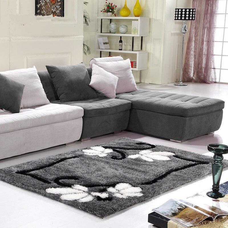 Современные лохматый окрашенные ковры для Гостиная дома Спальня ковры Кофе таблица коврик Bape бегун большой коврик