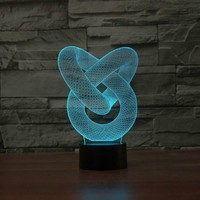 YJM 2876 Creative Products DIY Lights Swith Power Table Lamp Dimmable Atmosphere 3D Abstraction Night Light for Holiday Ambiance