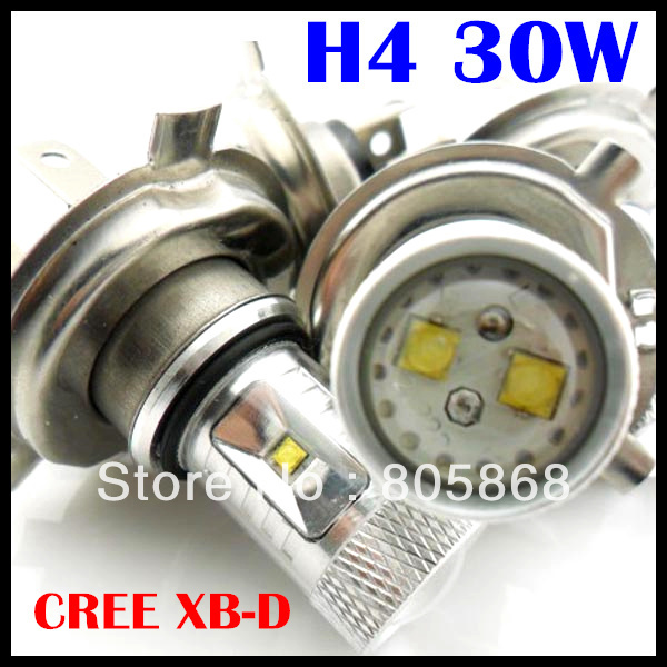 Free Shipping!!! High Power 30W H4 led H7 H11 cree chip led XB-D LED Car Fog Head Driving Daytime Running Light Bulbs 1w led bulbs high power 1w led lamp pure white warm white 110 120lm 30mil taiwan genesis chip free shipping