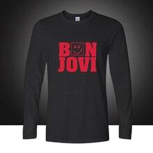 Neue 2017 Mode Bon Jovi Rock Band Casual Langarm T-shirt Jungen Herbst Baumwolle T-shirt Plus Größe