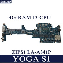 KEFU ZIPS1 LA-A341P Laptop motherboard for Lenovo ThinkPad YOGA S1 Test original mainboard 4G-RAM I3-CPU