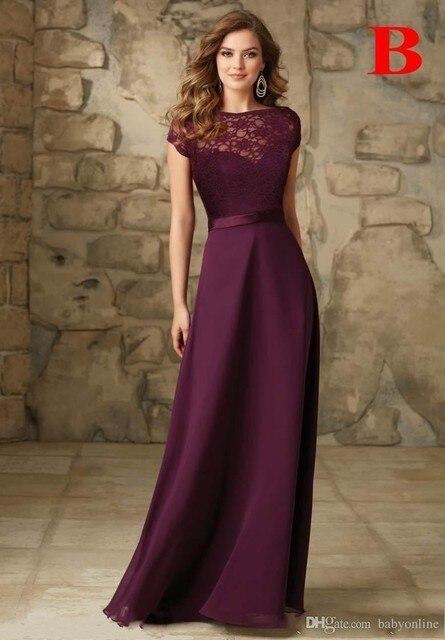 Robe cocktail couleur aubergine