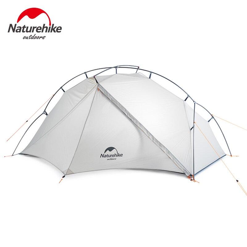 Naturehike vik serie única barraca ao ar livre ultra leve 0.93kg 15d náilon acampamento caminhadas neve à prova de chuva barraca de alumínio portátil