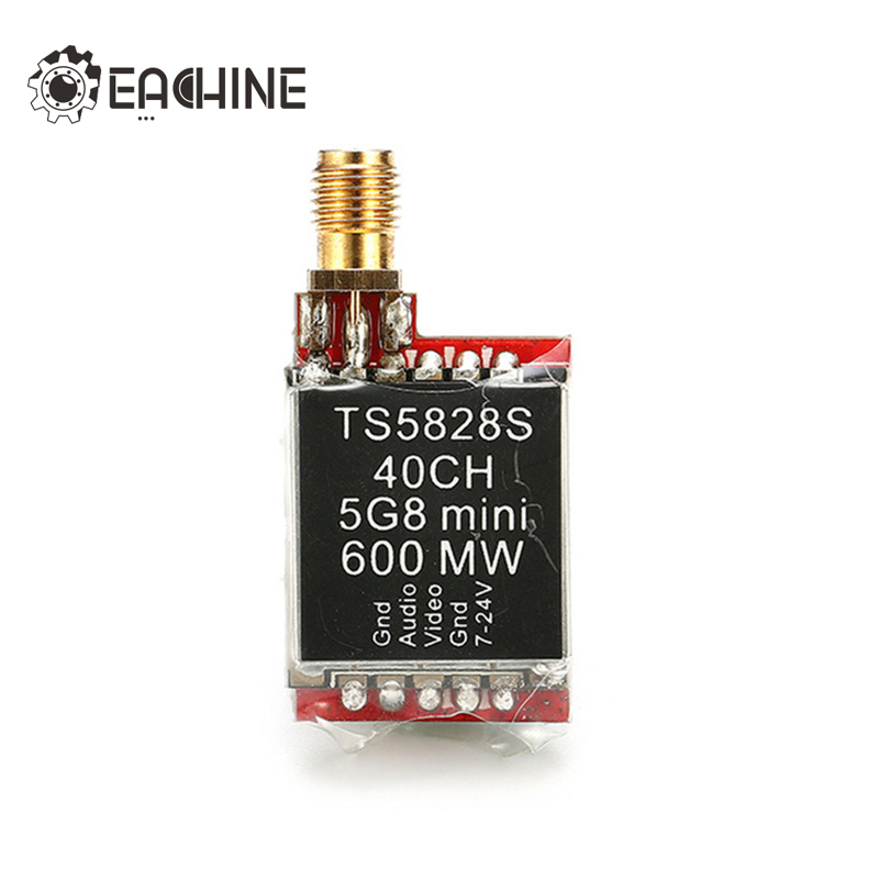 Eachine TS5828S 40CH 5.8G 600MW RP-SMA Female FPV Transmitter Boscam Skyzone Upgrade ufofpv tx35 5 8g 40ch raceband 0mw 25mw 300mw adjustable fm av fpv transmitter sma rp sma for fpv quadcopter rc drones diy page 1