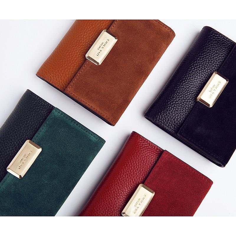 EMMA YAO genuine leather wallet female famous brand wallet case fashion purse Кошелёк