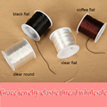 1Roll/lot 0.8mm Clear Elastic Thread Black Round Crystal Line Nylon Rubber Stretchy Cord For String Bracelets Necklace Craft Diy