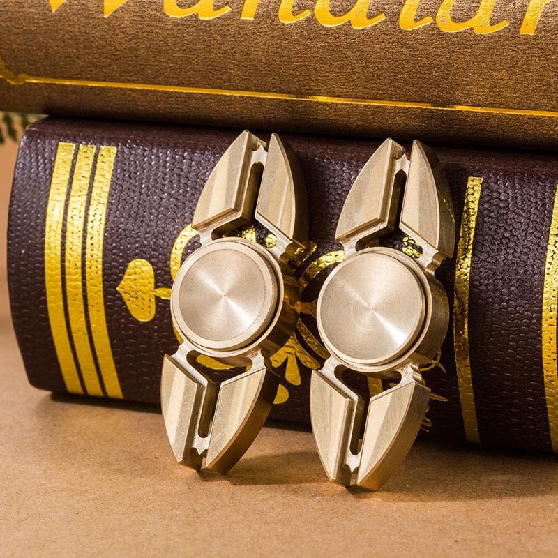 1pcs Hand Spinner Brass EDC Dustproof Fidgety Spinner Focus Toy Fingertip Gyro Gift Cool