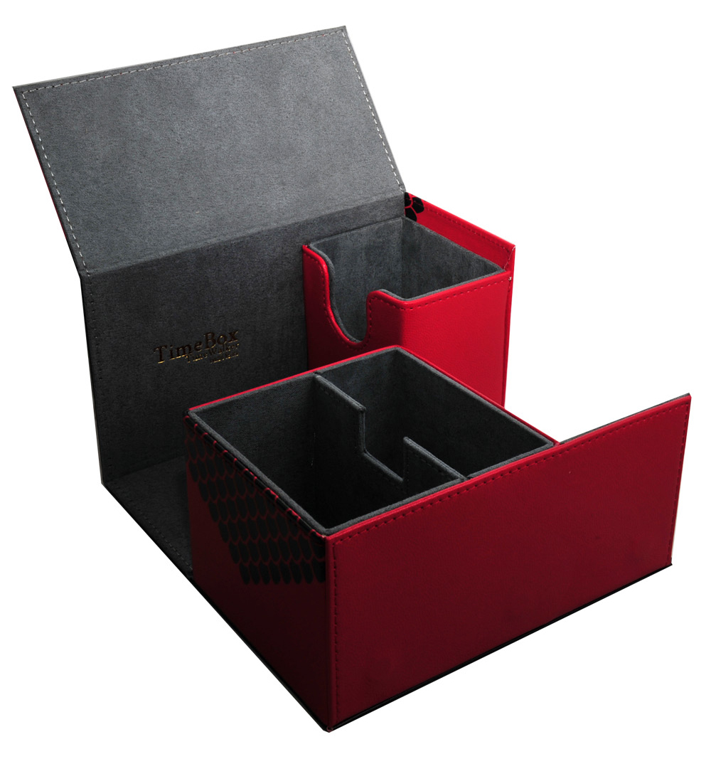 Leather Material Card Storage Box For The Game King Array Duel Capacity 180 Sheets MTG Card Box