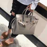 2018 Spring/Summer New Style PU Leather Woman Fashion Litchi Grain Platinum Handbag M and S size Shoulder bags