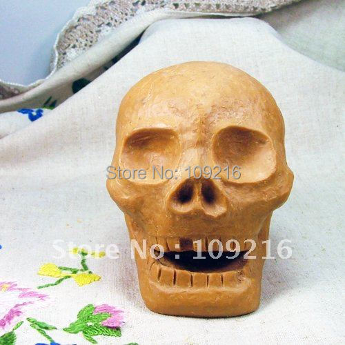 wholesale!!!New 3D Skeleton Head (R0374) Silicone Handmade Candle Mold Crafts DIY Mold