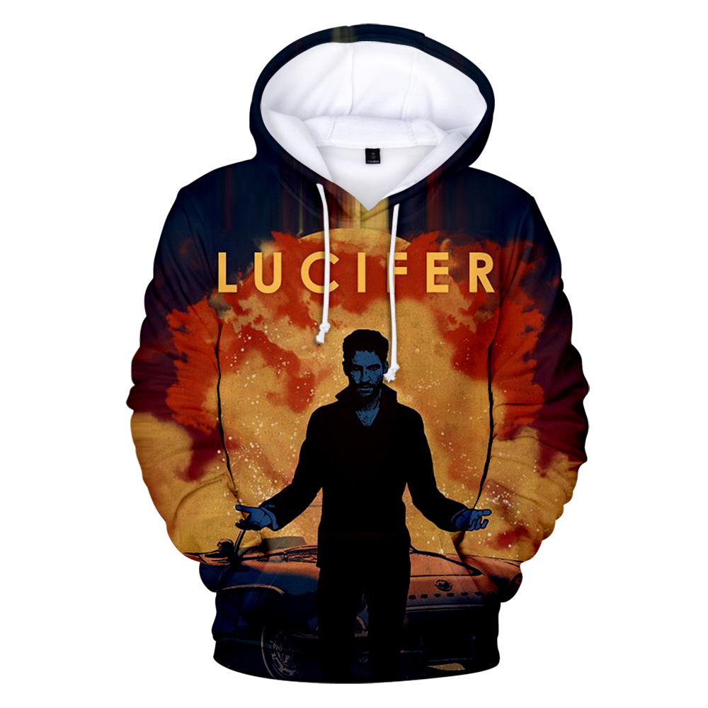 3D Hoodie Long-Sleeve Lucifer Nice Outdoor Fashion Women Morningstar Top Autumn New