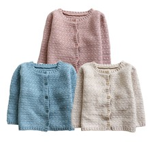 New Baby Boys Girls Clothes Sweater Coat Long Sleeve Autumn Winter Outwear Toddler Knitted Warm Cardigan