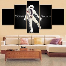 Top-Rated 5 Pieces Printing Painting Michael Jackson Type Poster Modular For Home Decorative Living Room Framework Hot Sell