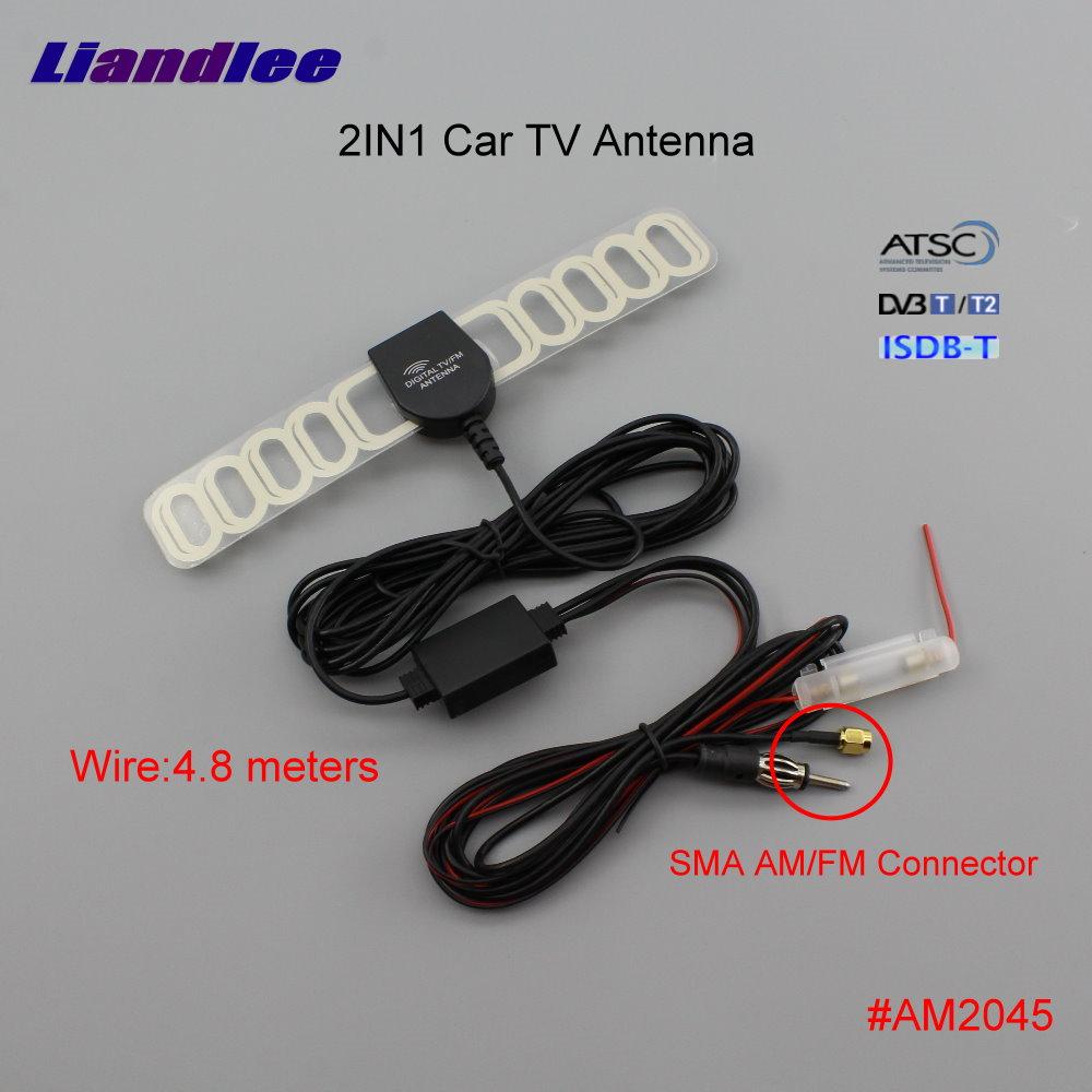 12V Car SMA+FM 2 in 1 Antenna Amplifier and Booster Digital TV Tuner Universal Car & Truck Exterior Parts Car & Truck Antennas