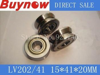 v groove Guide roller bearings LV202/41 LV202/41ZZ size:15*41*20
