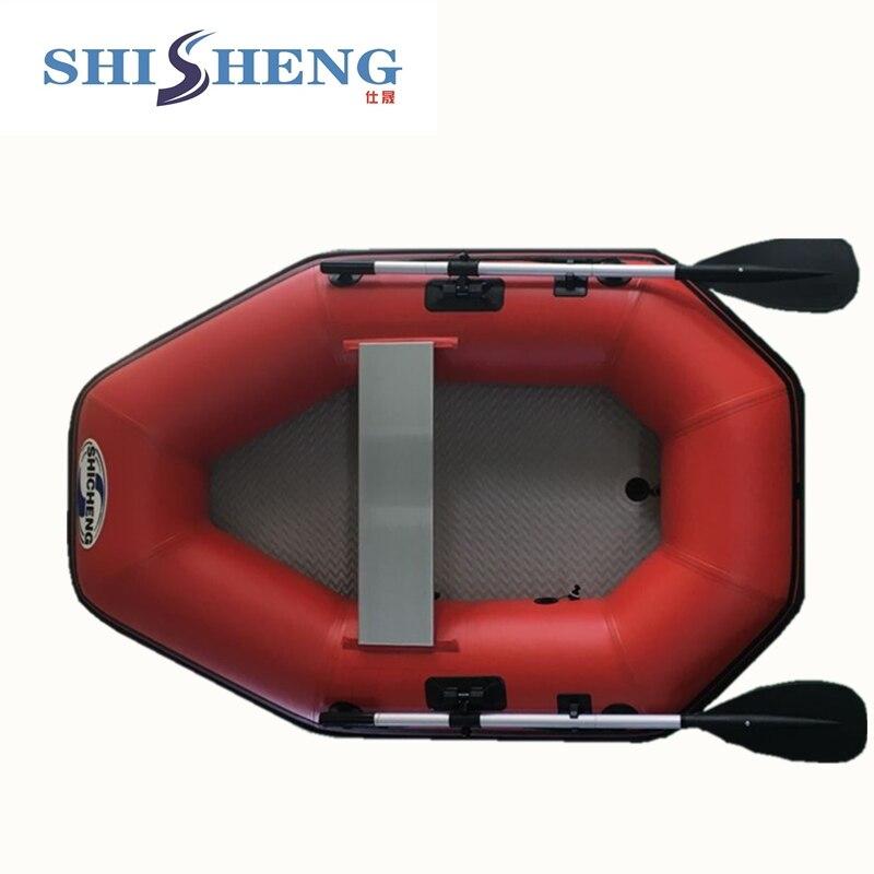 2018 offre spéciale petit bateau de rafting gonflable gris avec sol airmat - 4