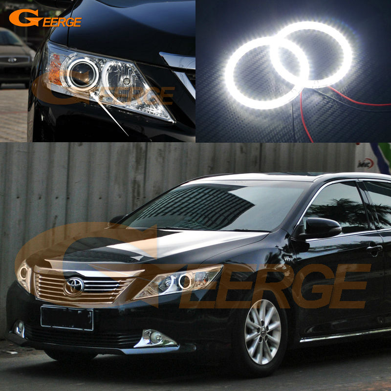 For toyota camry XV50 2011 2012 2013 2014 Excellent led Angel Eyes Ultra bright illumination smd led Angel Eyes Halo Ring kit монета номиналом 50 тенге шурале казахстан 2013 год