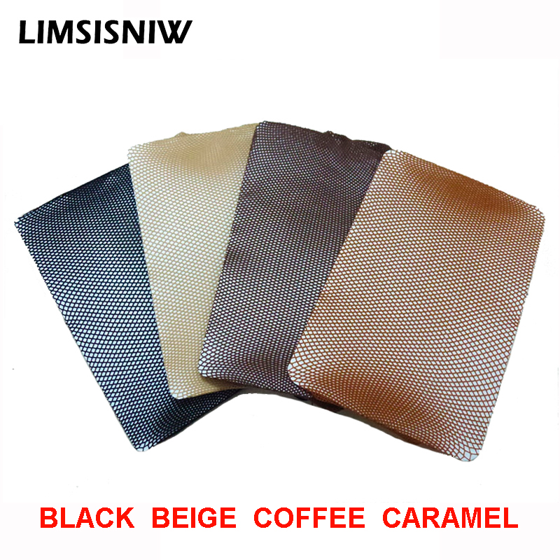 LIMSISNIW 4 Colors Black Beige Nylon Small Fishnet Women Plain Tights Good Quality Ladies Seamless Pantyhose Caramel Small Holes