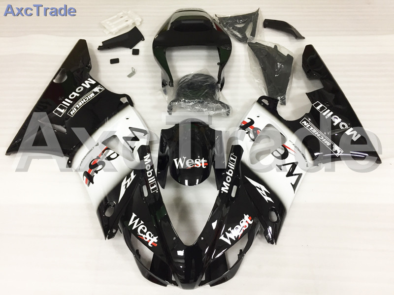 Motorcycle Fairings Kits For Yamaha YZF1000 YZF 1000 R1 YZF-R1 1998 1999 98 99 ABS Injection Fairing Bodywork Kit Black Whtie custom motorcycle fairing kit for kawasaki ninja zx9r 1998 1999 zx9r 98 99 black flames blue abs fairings set 7 gifts sg10