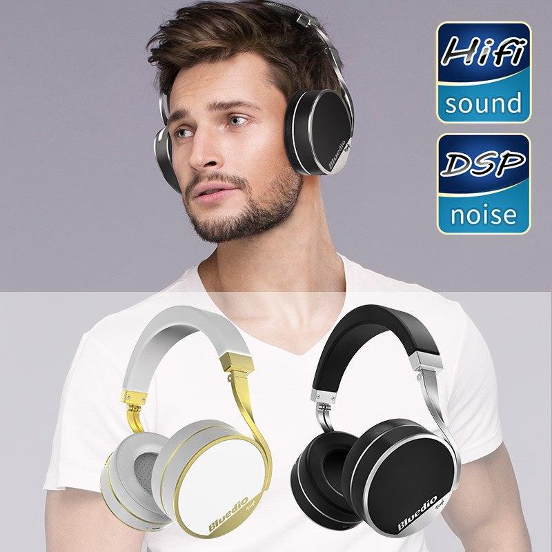 Bluedio Vinyl Plus Light Extravagance Bluetooth Headphones Headset Wireless Headphone Headset Black
