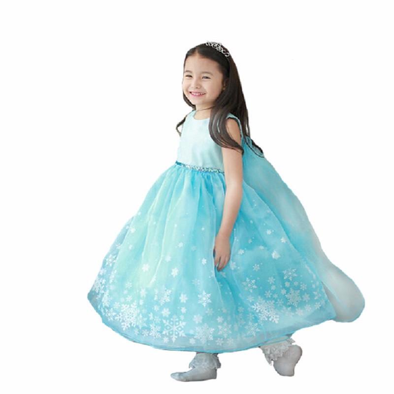 2016-Summer-Girl-Dress-Princess-Elsa-Dress-Children-holiday-Snow-Queen-Cosplay-Costume-Baby-Toddler-Kids