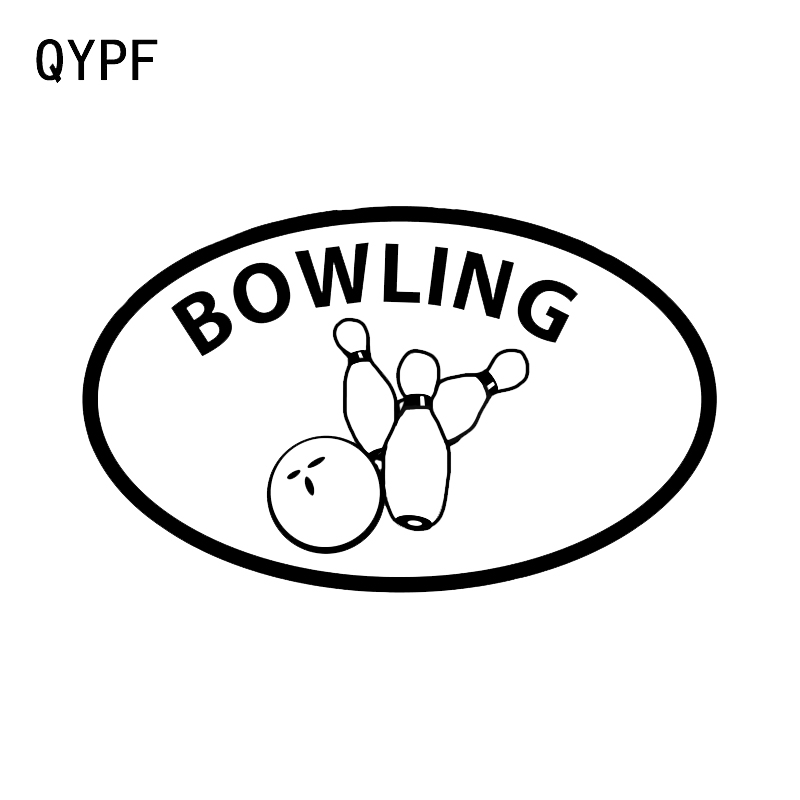 Qypf 14.2*8.7cm Bowling Game Decor Vinyl Car Sticker Accessories Extreme Movement C16-1306 Smoothing Circulation And Stopping Pains Car Stickers Automobiles & Motorcycles