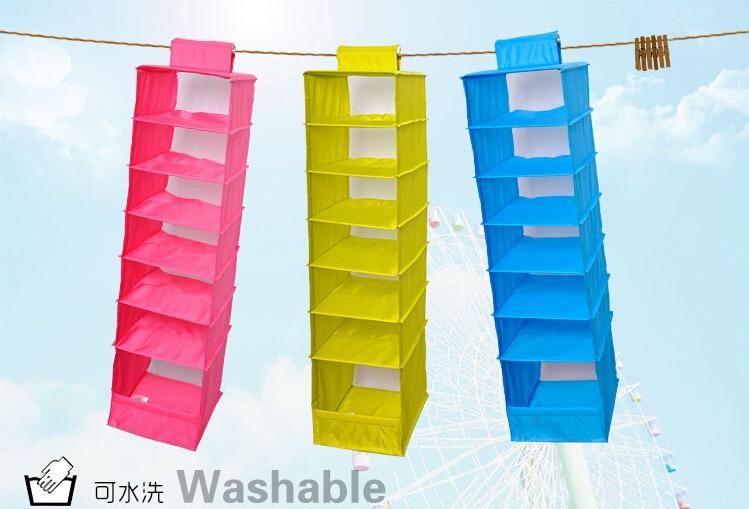 Waschbar 5 Bonbonfarben Falten Hängen 7 Fächer Regal Closet - Home Storage und Organisation