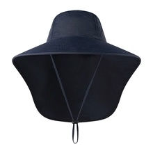 1 PC Outdoor Breathable Fishing Cap Hiking Camping UV Protection Face Neck Cover Visor Hat  Flap Wide Brim Buckle