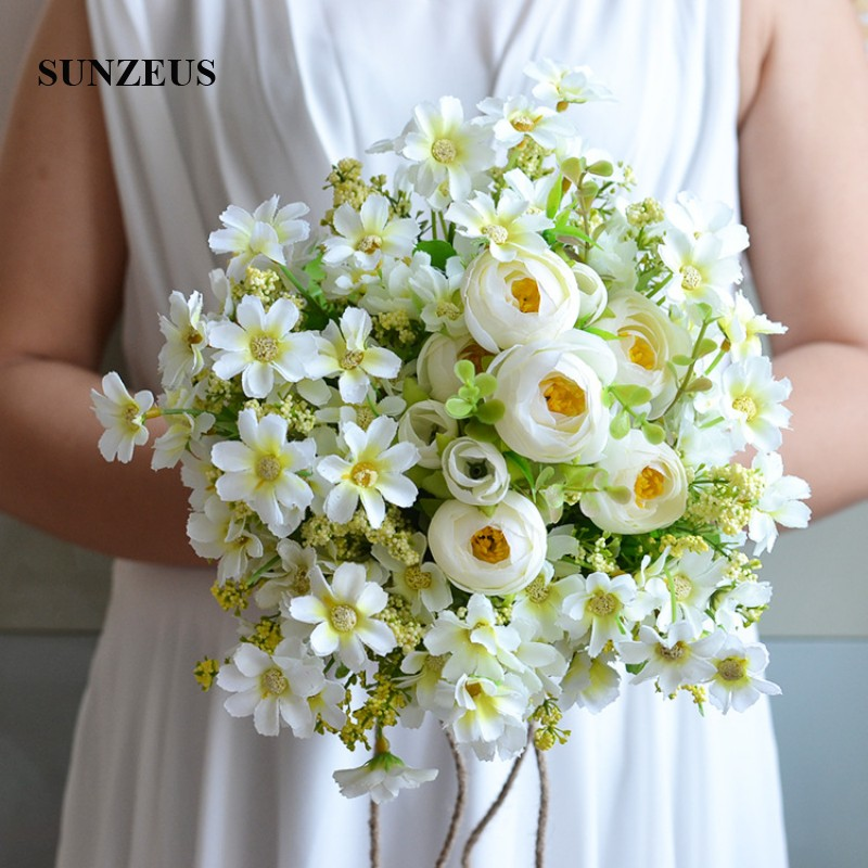 Small Flowers Handmade Flowers Beach Wedding Bouquet For