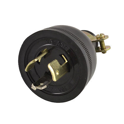 AC 250V 30A Screw Lock Generator Plug Socket 0.47 Cable Adapter screw terminals metal casing 10a ac 115 250v emi filter
