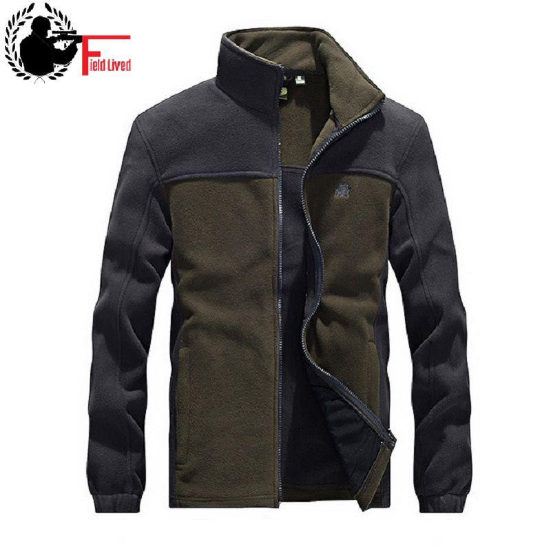 Military Tactical Fleece Hoodie Zipper Jacket Men Patchwork designer brand Jacket Male Coat cardigan Black Plus Size 3XL 4XL