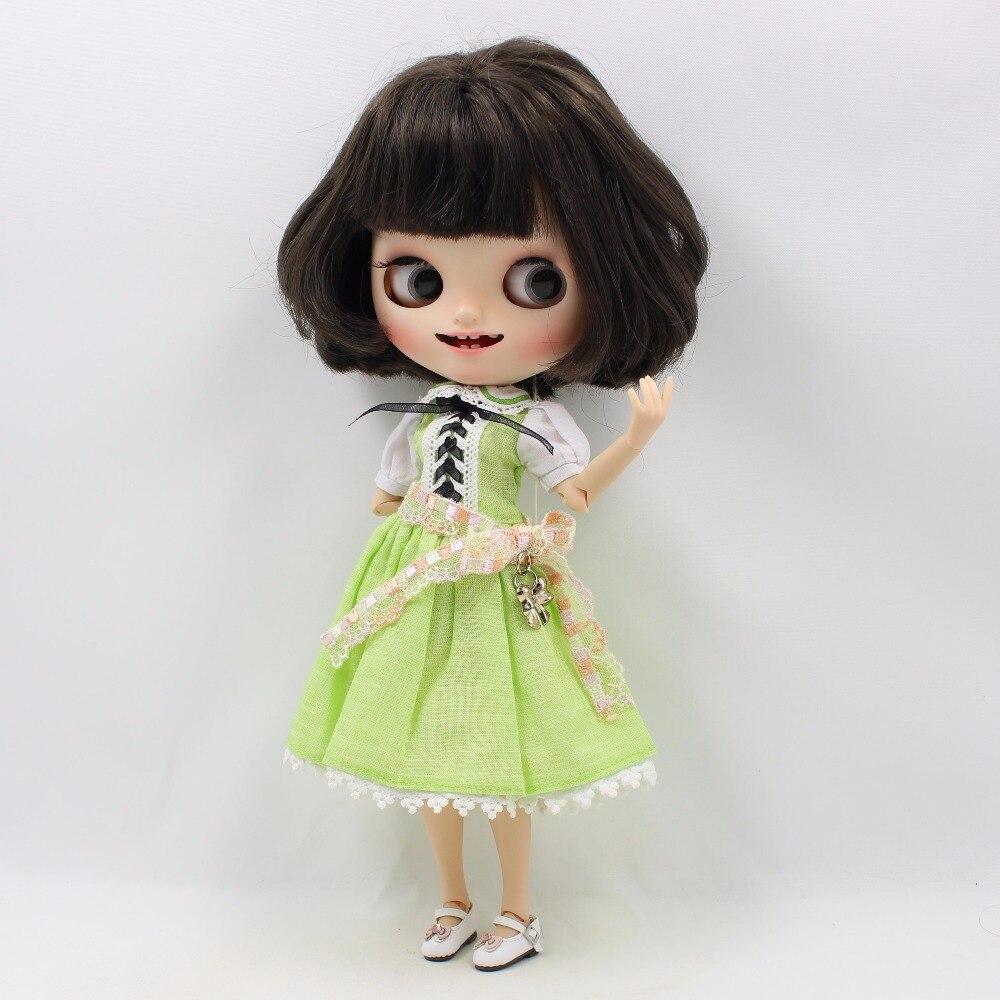 Neo Blythe Doll Green Dress 1