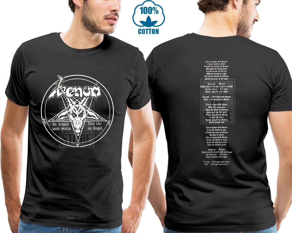 Official T Shirt VENOM Black Death Metal In LEAGUE With Satan All Sizes
