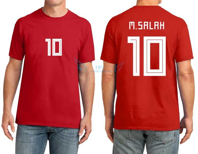 purchase cheap ce428 803c3 Hot 2018 Top Printed T shirt with name Mohamed Salah M.salah ...