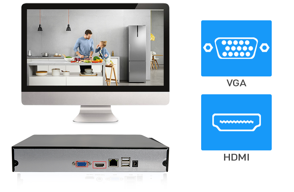 Hiseeu  P2P 8CH 16CH CCTV NVR Camera Video Recorder 22