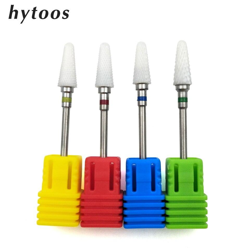 HYTOOS 4 Type Ceramic Cone Nail Drill Bit 3/32