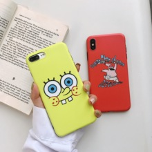 Cute SpongeBob Patrick Star Cartoon Phone Couple Case for iPhone 6 6s 7 8 Plus X XS XR XSMax